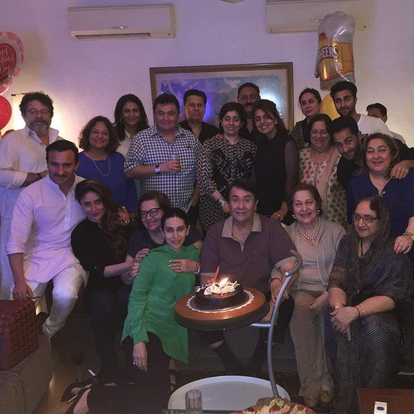 Happy birthday to Kareena's father, Randhir Kapoor! Have a look at how the Kapoor khandan celebrated.