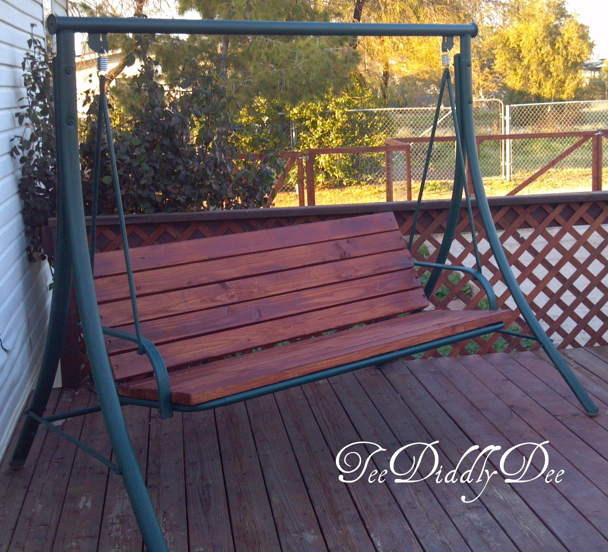 Refurbish Old Patio Swing Chair Into New Wooden One Teediddlydee Blog