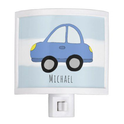 Cute baby boy doodle blue car with name night light baby gifts cute baby boy doodle blue car with name night light baby gifts giftidea diy unique negle Image collections