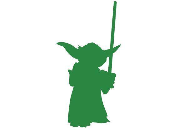 Yoda Silueta | Starwars@s | Silhouette, Silhouette cameo y ...