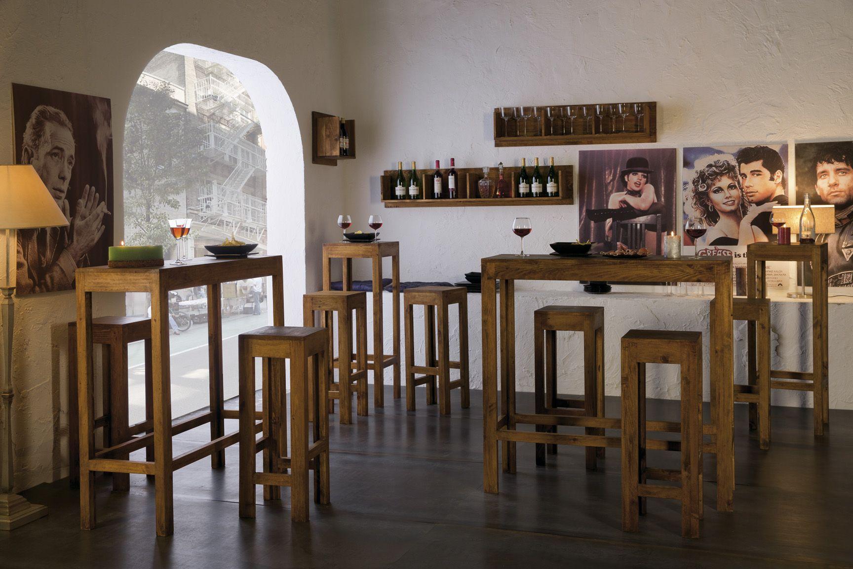 Mesas y Sillas Bar Serie Aldaola esaniadecoracion