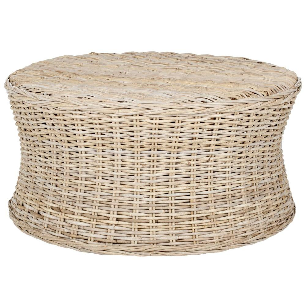 Safavieh Ruxton Natural Unfinished Accent Ottoman In 2019