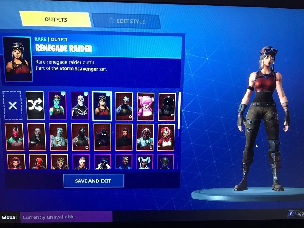 fortnite ultra rare account with renegade raider ghoul trooper skull trooper fortnite - assault trooper fortnite combos