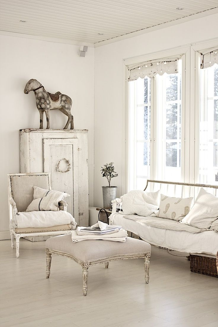 Monday Inspiration French Country Style Shabby Chic Living Room Shabby Chic Living Room Design All White Room