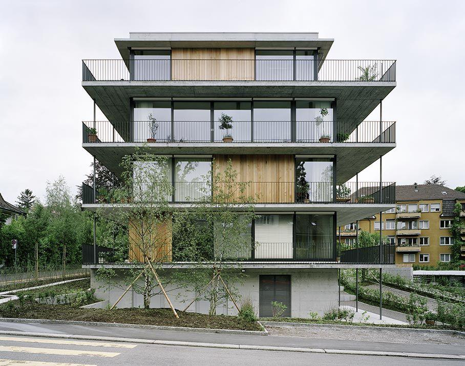 Gret loewensberg hinterbergstrasse apartments zurich for Modern house zurich