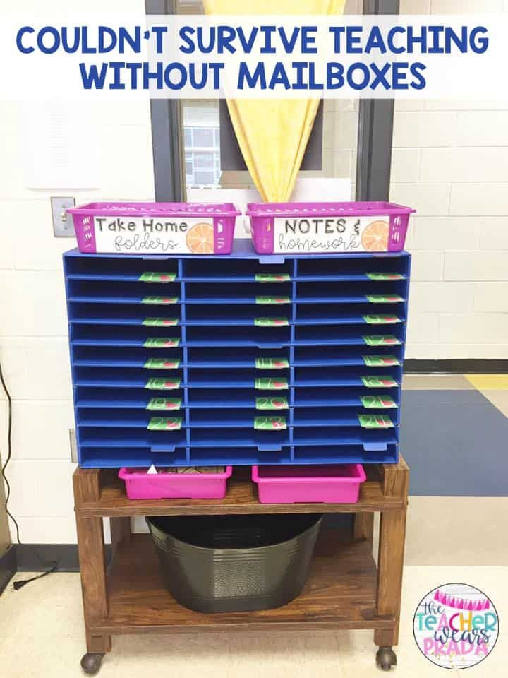 Do you use student mailboxes in your classroom? Click here to read about how I use student mailboxes in my classroom! This is one my favorite classroom management tips for running my 2nd grade and 3rd grade classroom smoothly. This also makes my end of the day classroom routine more organized. I teach this routine and procedure on the first day of school!  classroommanagment  firstdayofschool  2ndgrade  3rdgrade  classroom organization student mailboxes classroom management 3rd grade ideas