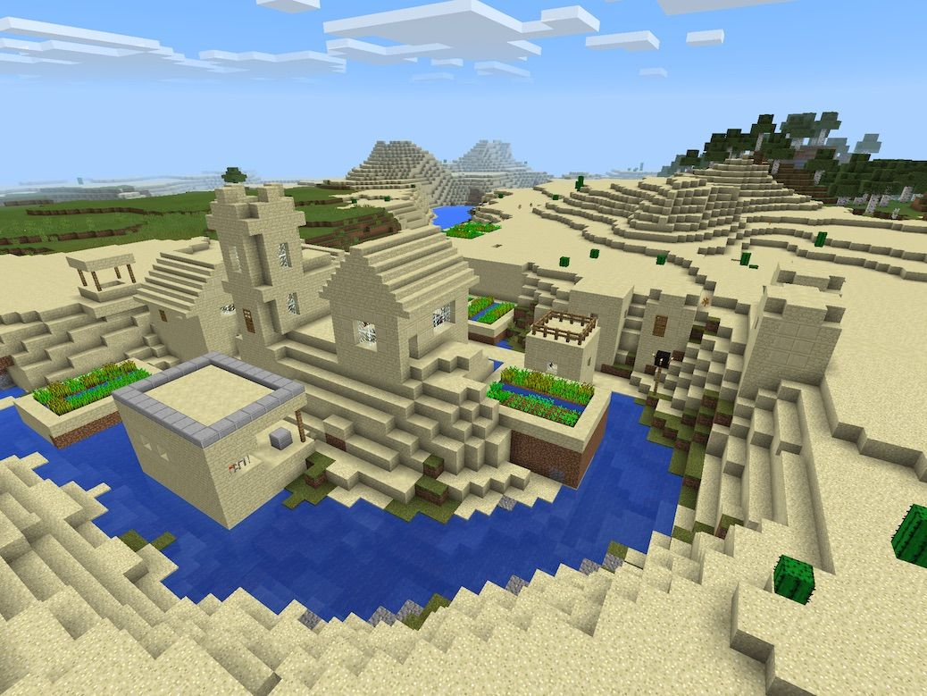 A Fan submitted this MCPE Village Seed where the