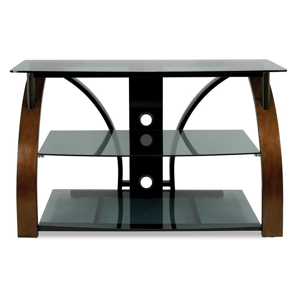 Bell O Brown And Black Entertainment Center Brown Metallic