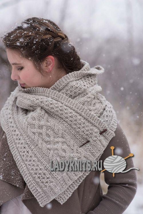Красивый шарф спицами схема и описание фото 897