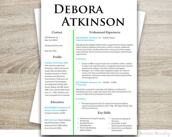 Instant Download Resume Template Design - Classy Resume Design - download word resume template