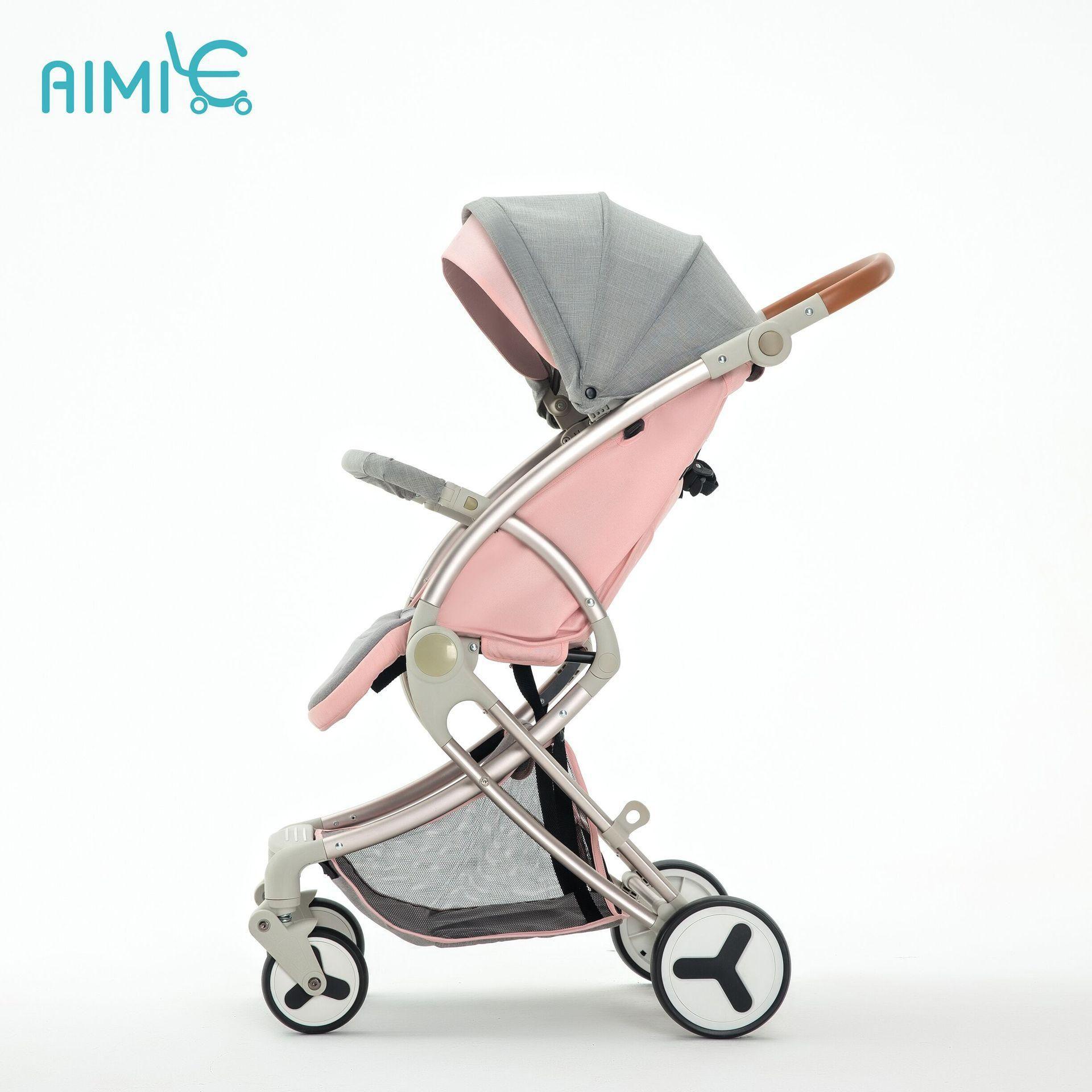 Super Light Baby Stroller Can Sit And Lie Folding Children High Landscape Newborn Travel Stroller Yesterday S Price Baby Strollers Baby Trolley Stroller