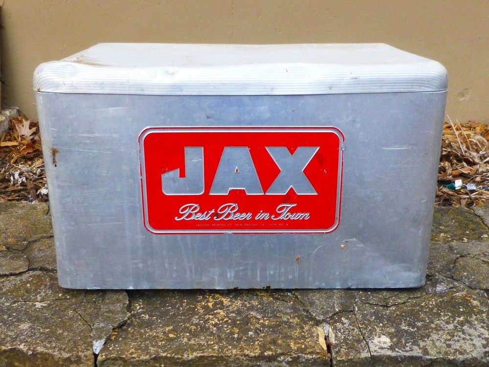 Vintage Jax Beer Ice Chest Beer Metal Cooler   Vintage