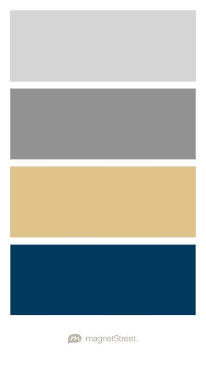 Silver, Classic Gray, Gold, and Navy Wedding Color Palette ...