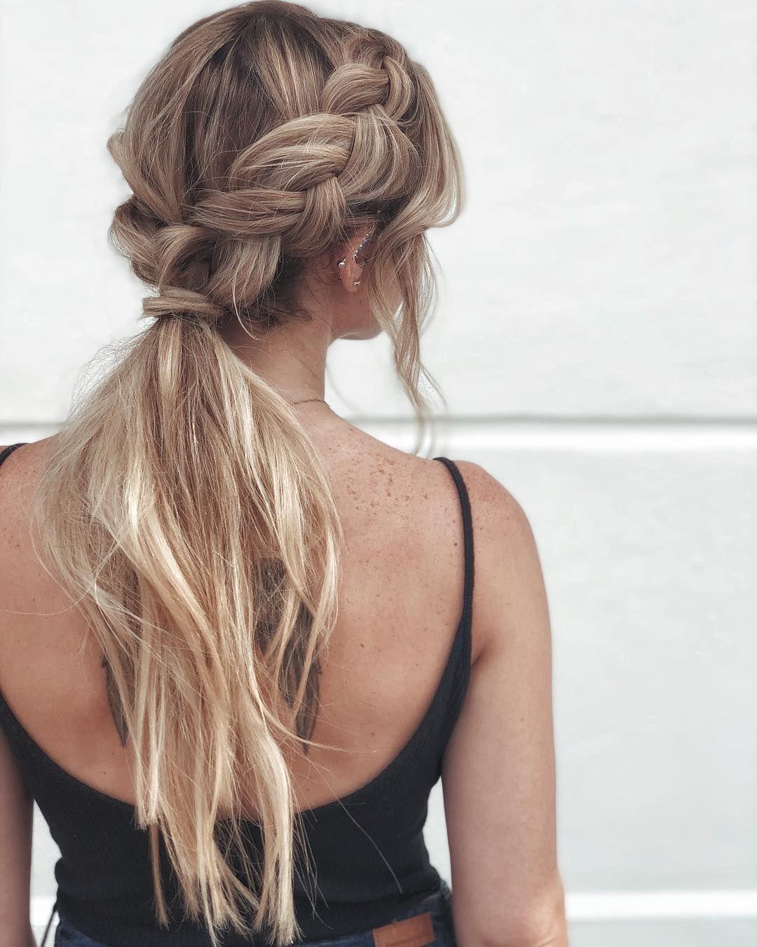 Simple braids + effortless pony