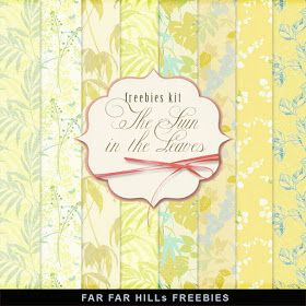 Far Far Hill - Free database of digital illustrations and papers: New Freebies Kit of Paper - The Sun in the Leaves