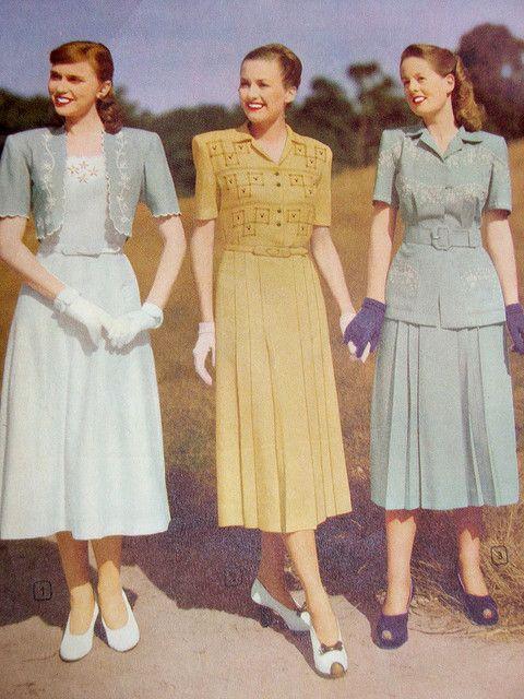 Wakes Spring Summer 1948 49 1940s Fashion Women Forties Fashion 1940s Fashion