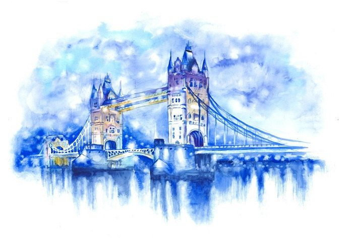 Pin By Hisloveletters On Watercolor Love London Painting