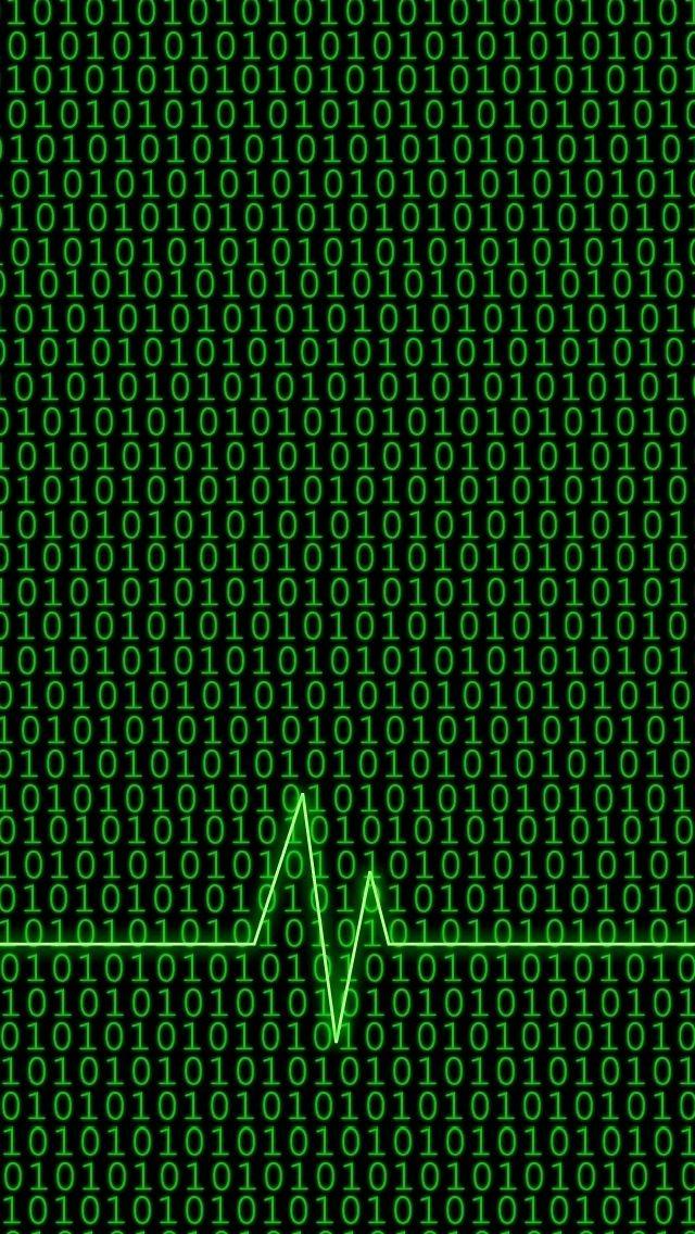 Moving Binary Code Wallpaper