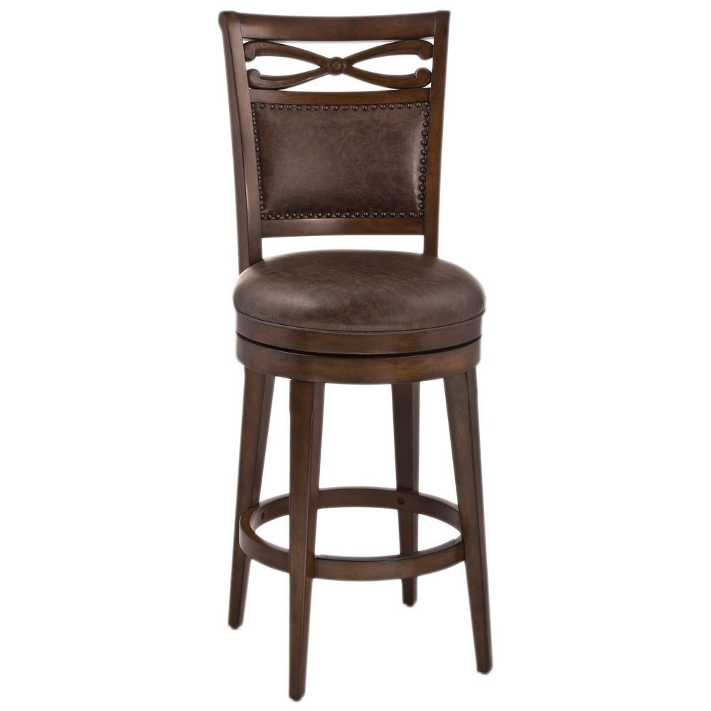 Hillsdale Seaton Springs Stool Bar Height Brown Faux