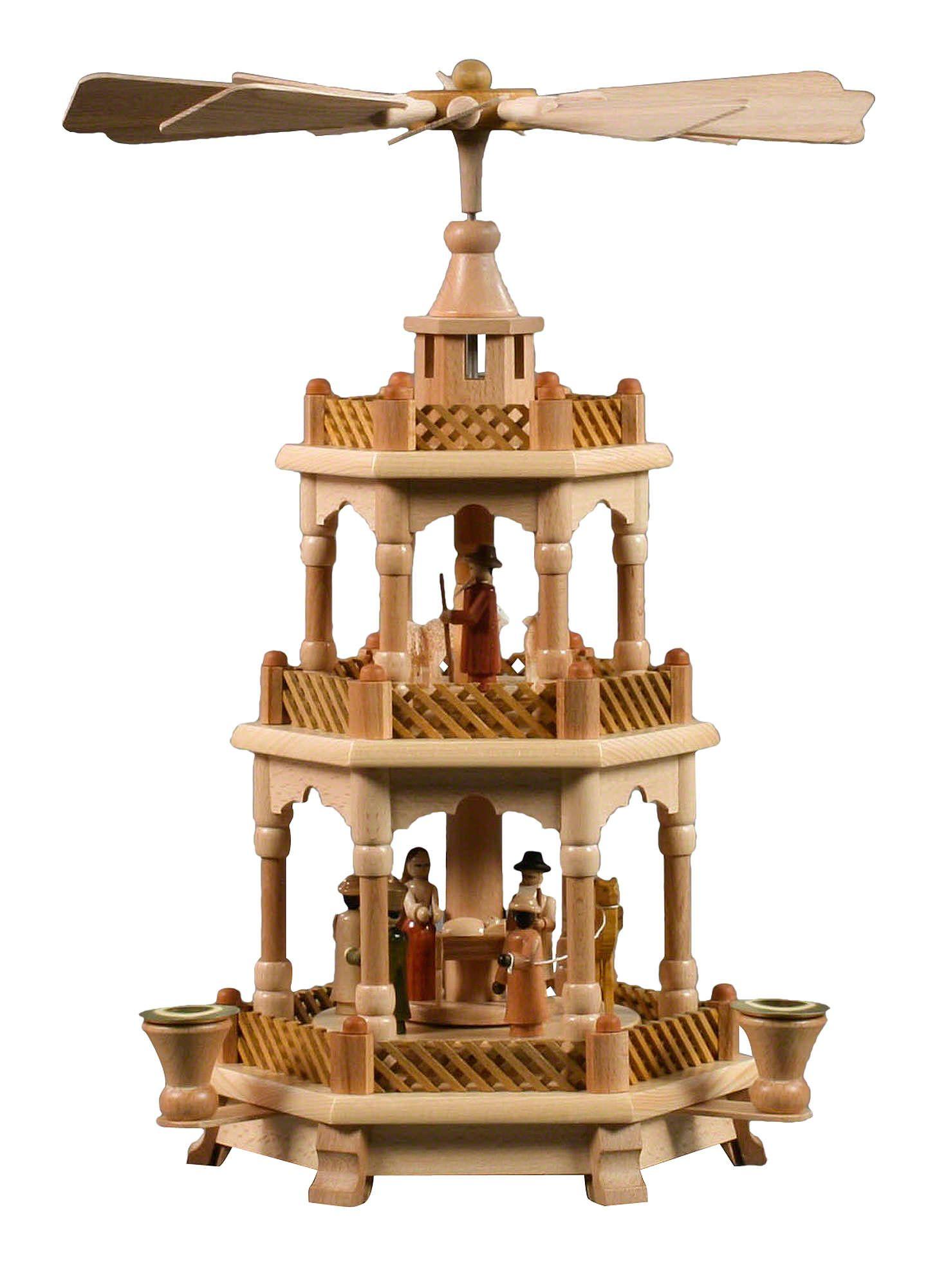 wundersch ne traditionelle weihnachtspyramide aus dem erzgebirge weihnachtspyramiden. Black Bedroom Furniture Sets. Home Design Ideas