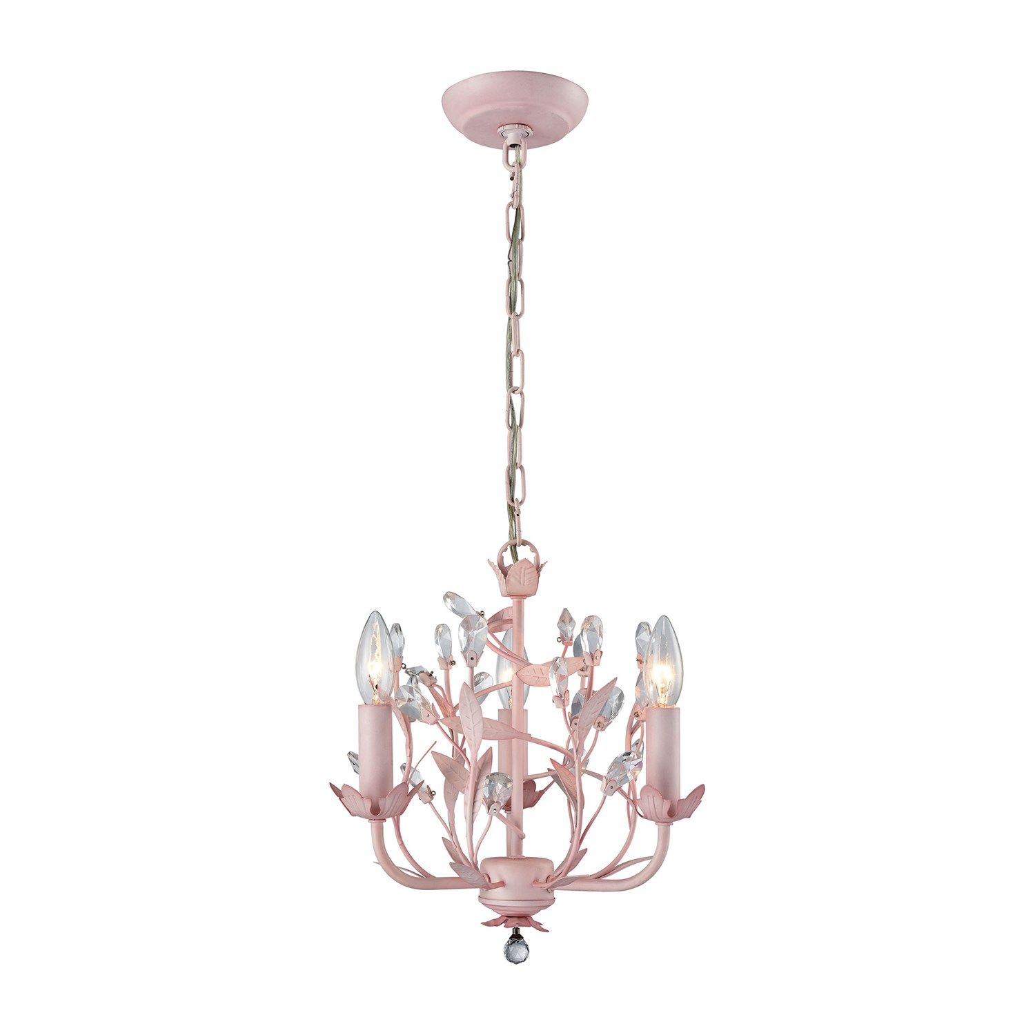Elk Lighting 18152/3 Circeo 3 Light Chandelier in Light Pink