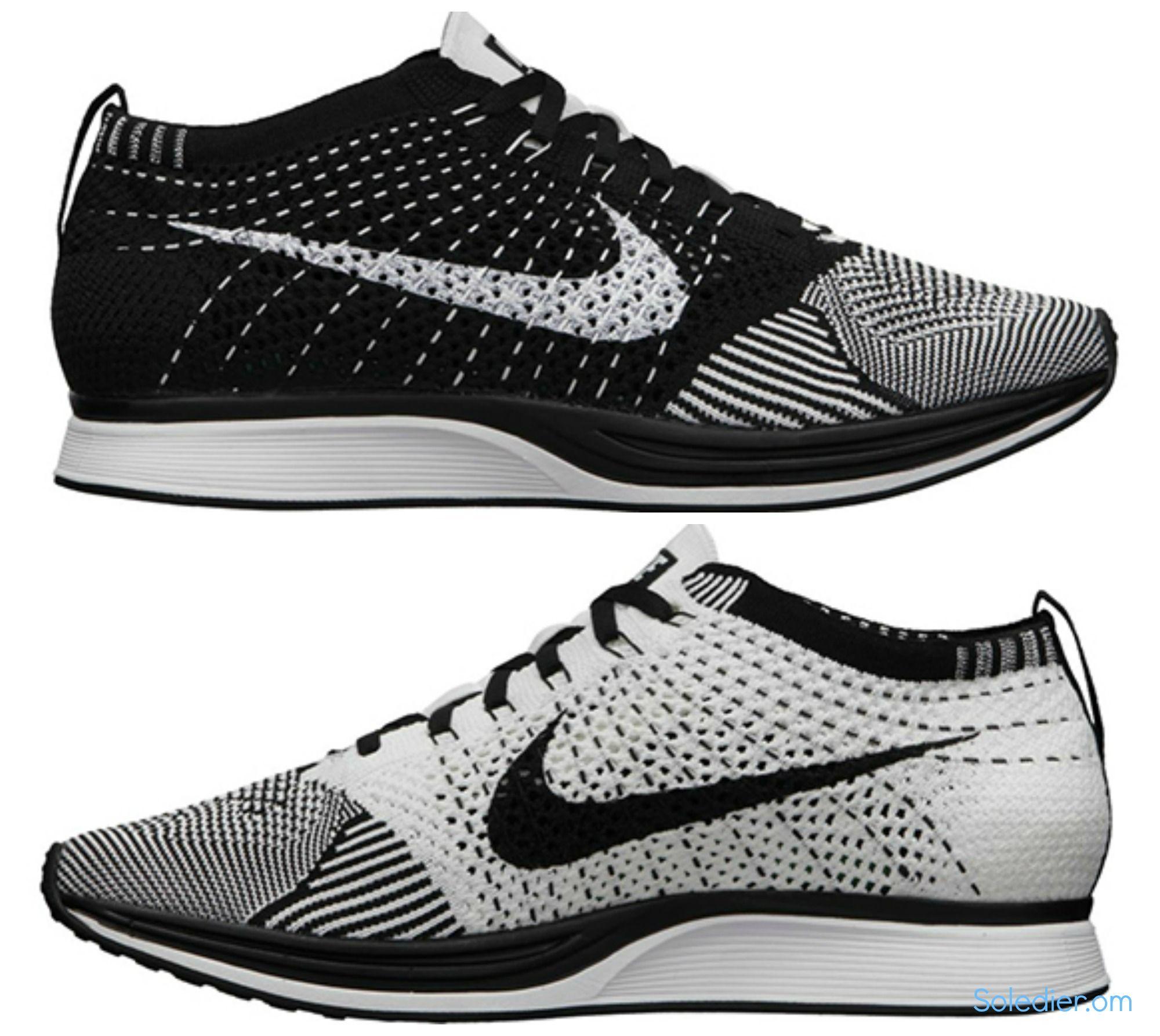 Nike Coureur Flyknit Chien Australian Noir Et Blanc vente magasin d'usine recherche en ligne PfITX