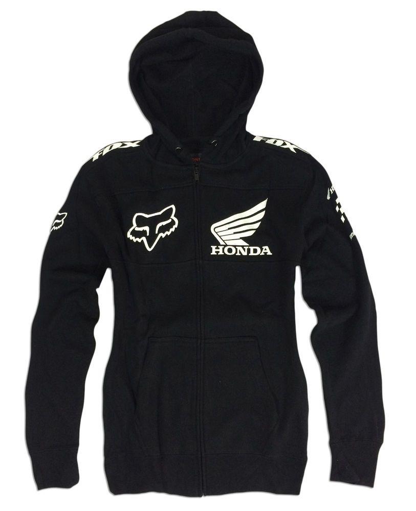 Fox Racing Mens KTM Hoody Sz Medium Fleece Fox Hoodie Zip Front Hooded Jacket