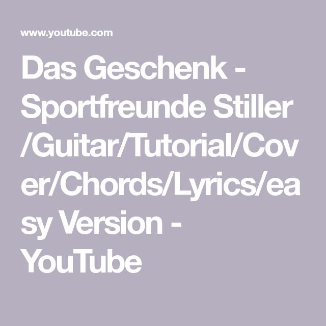 Das Geschenk Sportfreunde Stiller Guitartutorialcover