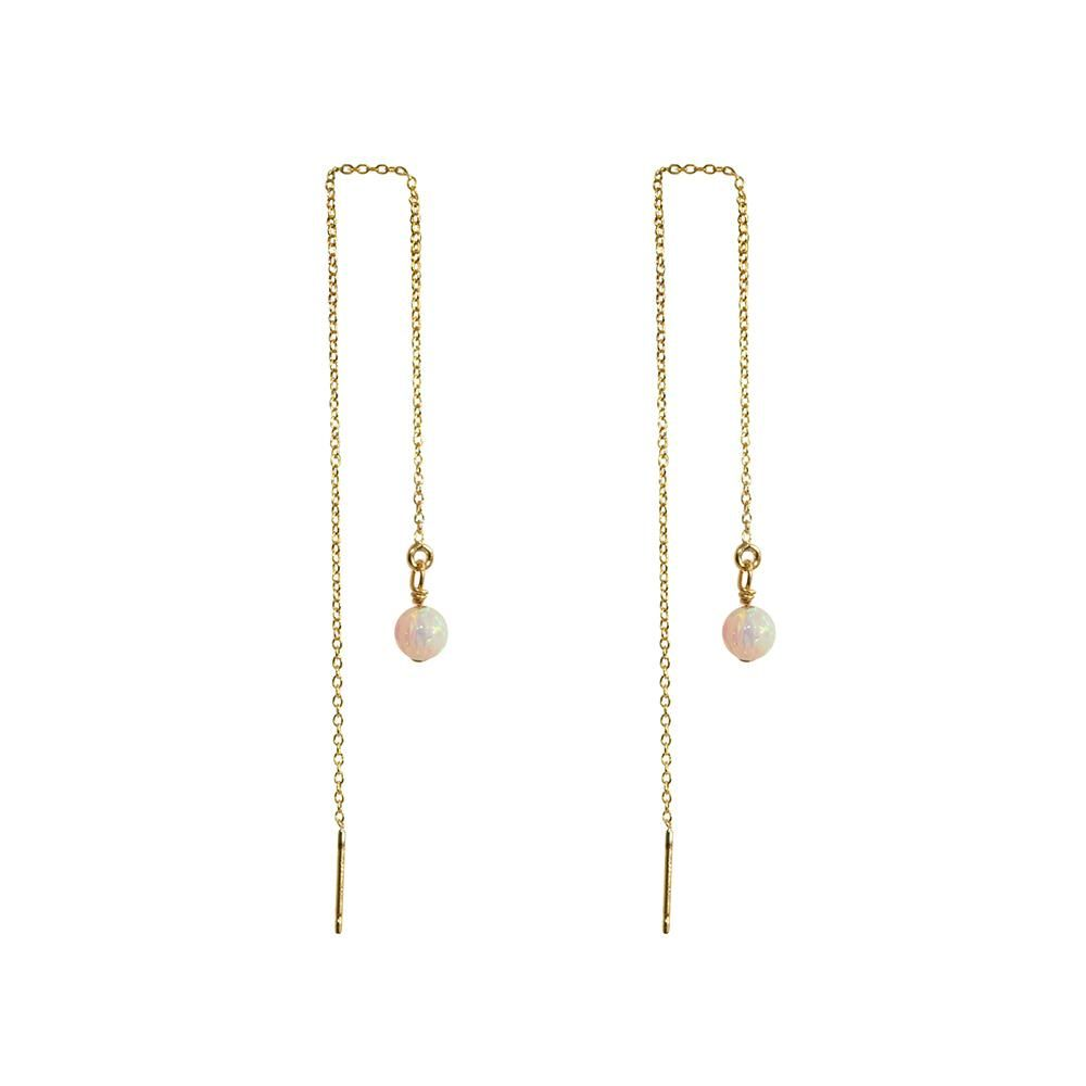 4 Inches 18K Yellow Gold Plated over Sterling Silver Threader Earrings