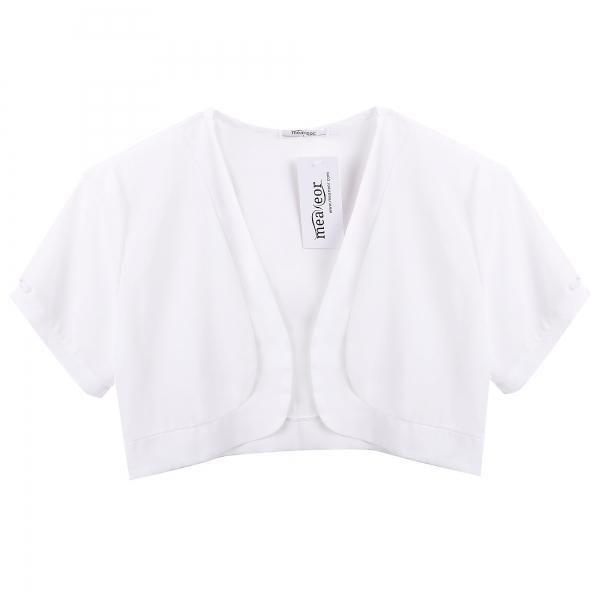 Dresslink - Dresslink Meaneor White Women Sheer Chiffon Short ...