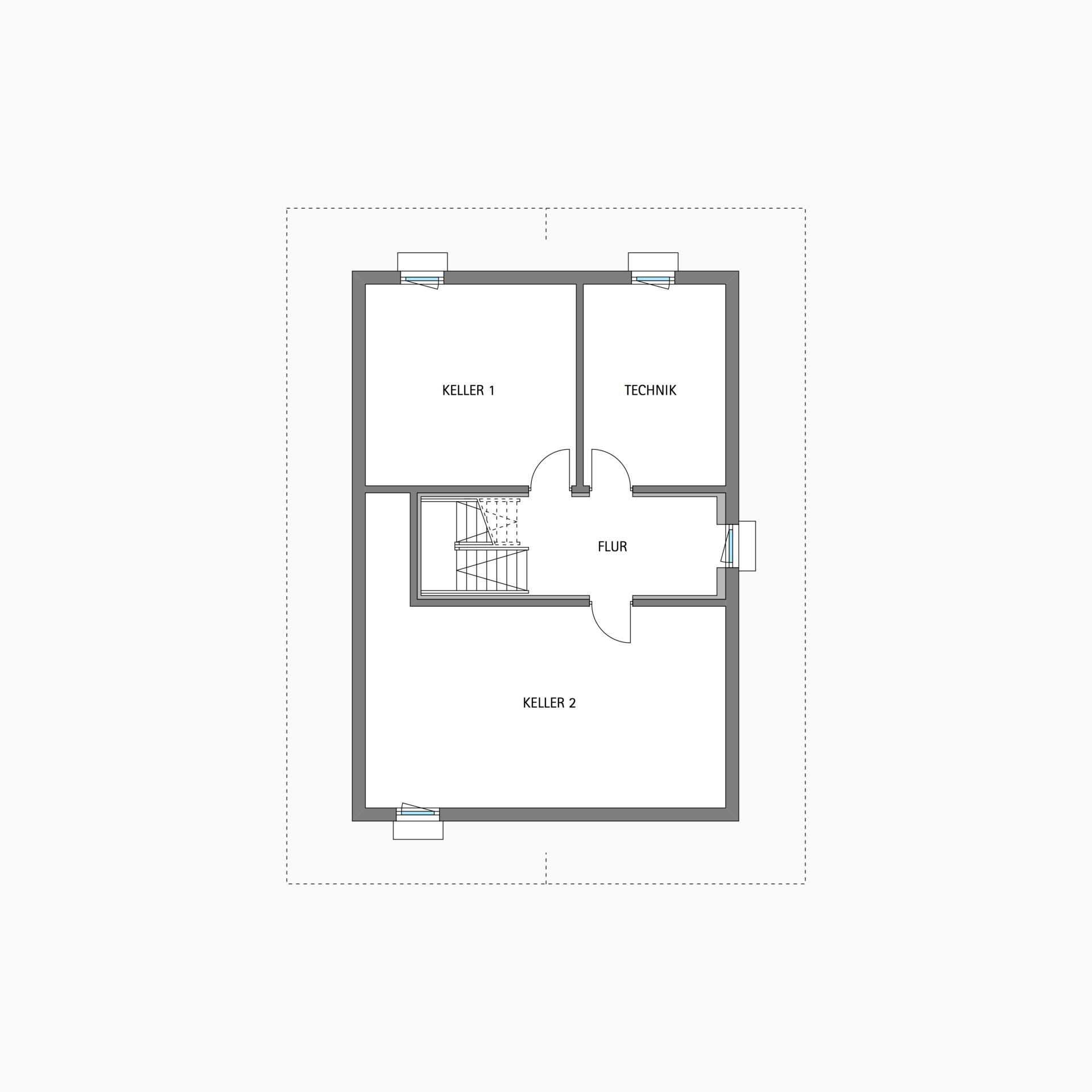 HUF Fachwerkhaus Grundriss Untergeschoss MODUM 710 Haus