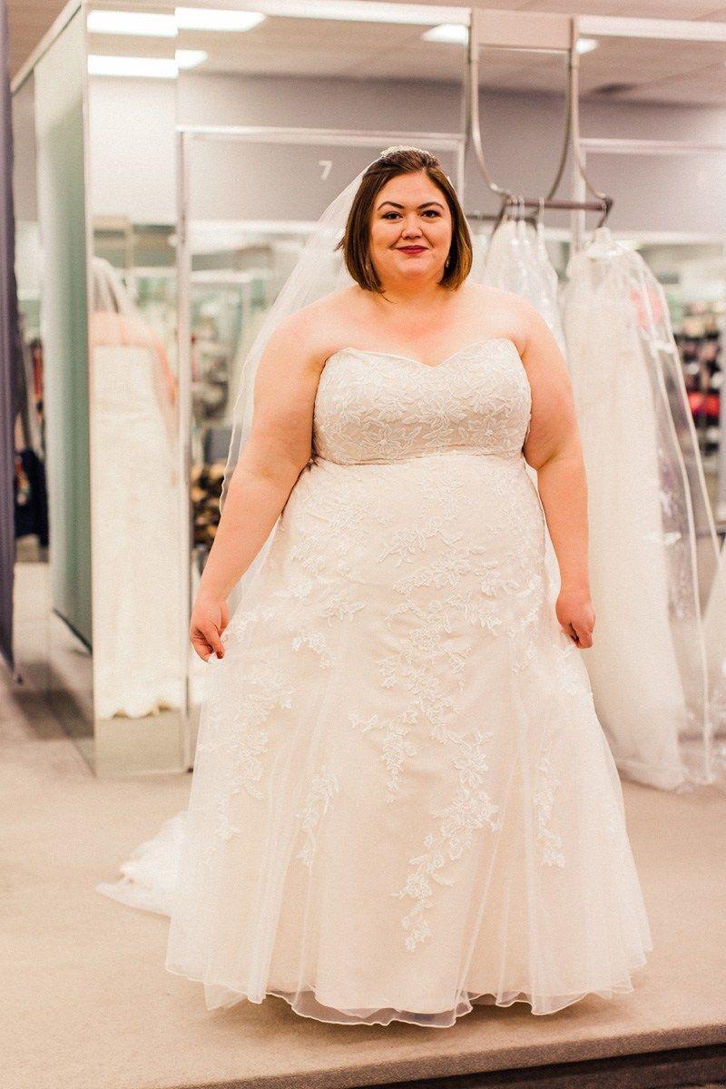 Jcpenney wedding dresses plus size  Plus Size Wedding Dress Shopping with Davidus Bridal  Emily