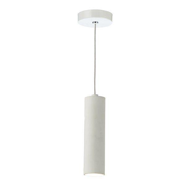 Contemporary Led Tubular Ceiling Pendant In White Pendant Lights