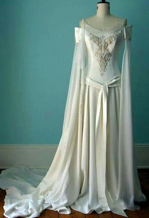 celtic wiccanpagan wedding handfasting gown - Wiccan Wedding Rings