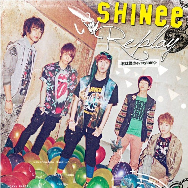SHINee Replay (Japanese ver ) | Album Covers | Shinee
