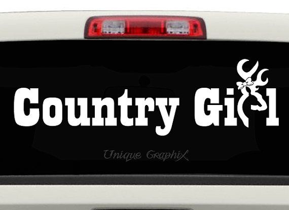 Country Girl Vinyl Decal Window Or Laptop Sticker By UniqueGraphix - Window decals for cars and trucksdecals stickers vinyl decals car decals general