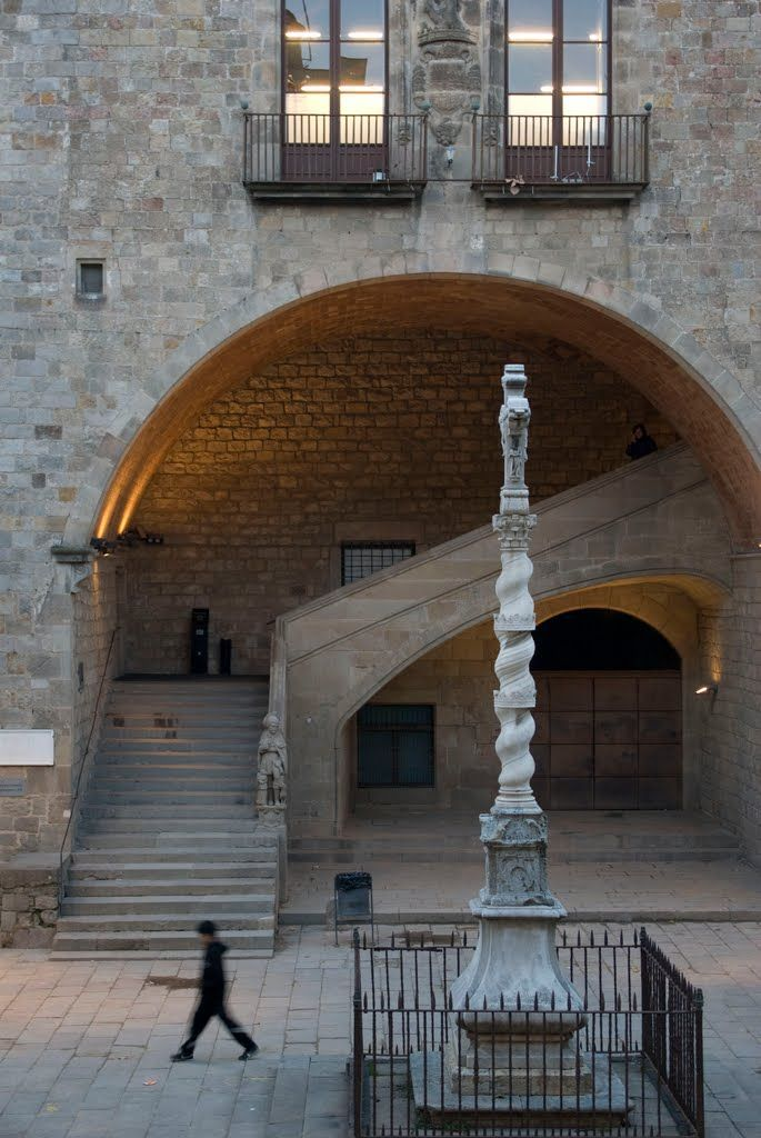 Pati Biblioteca de Catalunya Raval Barcelona Catalonia