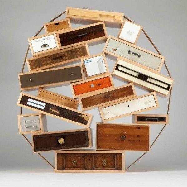 Droog Designer Kommode Holz Schubladen Sammlung Asymmetrisch