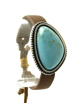 NATURAL STONE ADJUSTABLE FAUX SUEDE BAND