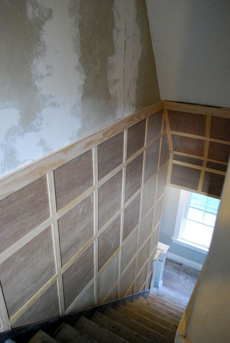 Cbf Cement Board Fabricators Residential Projects: Stairway Inspiration: Square Board And Batten To Hide