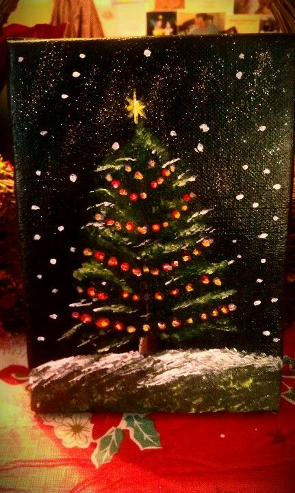 Small Christmas Tree Painting...prints Are Available On My Website!