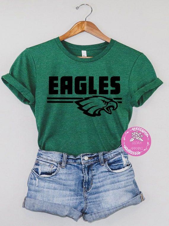 Eagles Shirt Team Spirit Shirt Eagles Team Shirt Eagles   Etsy
