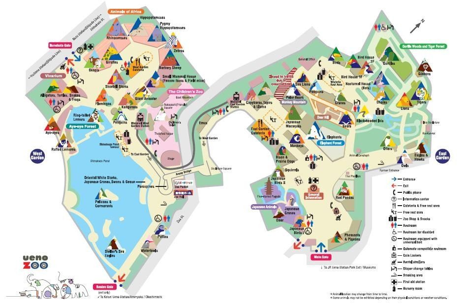 Ueno Zoo Tokyo Photo Maps Pinterest Ueno Zoo Zoos And Tokyo - Tokyo map for tourists