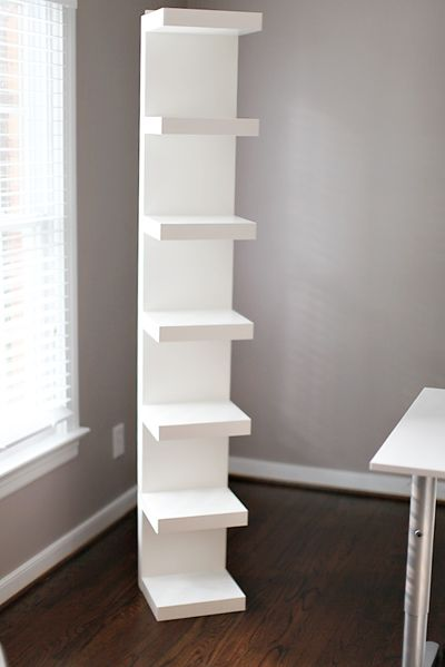 Ikea-Lack wall shelf unit, maybe instead of night stands?