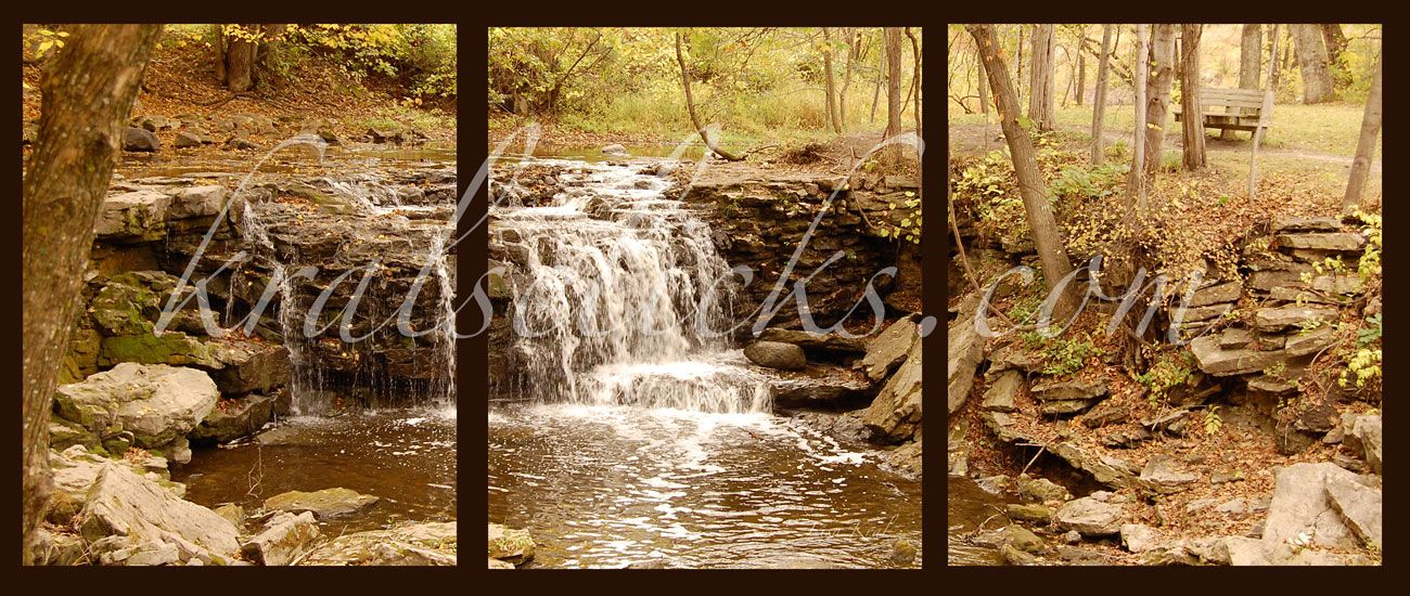 fall wall deor.htm soothingly serene fall scene complete with wispy waterfall and  soothingly serene fall scene complete