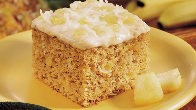 Aloha! Your taste buds will welcome this tropical delight of banana coffee cake…