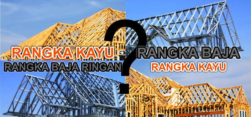 Atap Rumah Baja Ringan Atau Kayu Konstruksi Rangka School