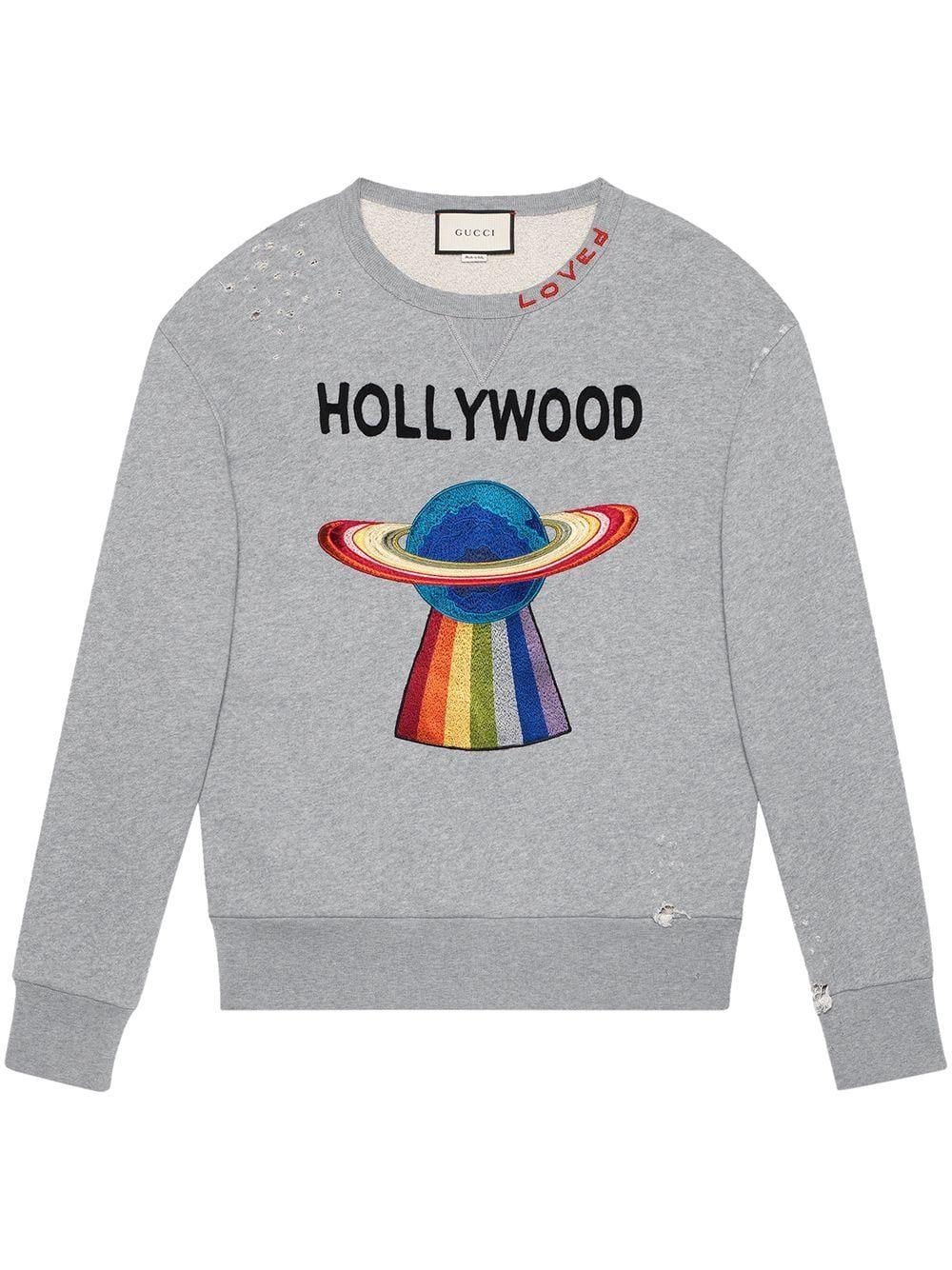 Gucci Cotton Sweatshirt With Planet Farfetch Mens Designer Hoodies Sweatshirts Hoodies Men [ 1334 x 1000 Pixel ]