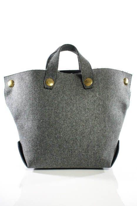 b4de0d452cfd Celine Gray Wool Felt Orb Tote Handbag Size Extra Large  size  extra  large   handbag  tote  gray  wool  felt  celine
