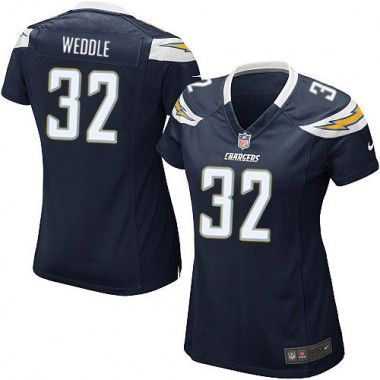 Nike Eric Weddle Game Women's Jersey - NFL San Diego Chargers #32 ...